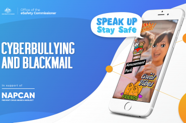 Virtual Classroom Cyberbullying and Blackmail Speak Up Stay Safe Image